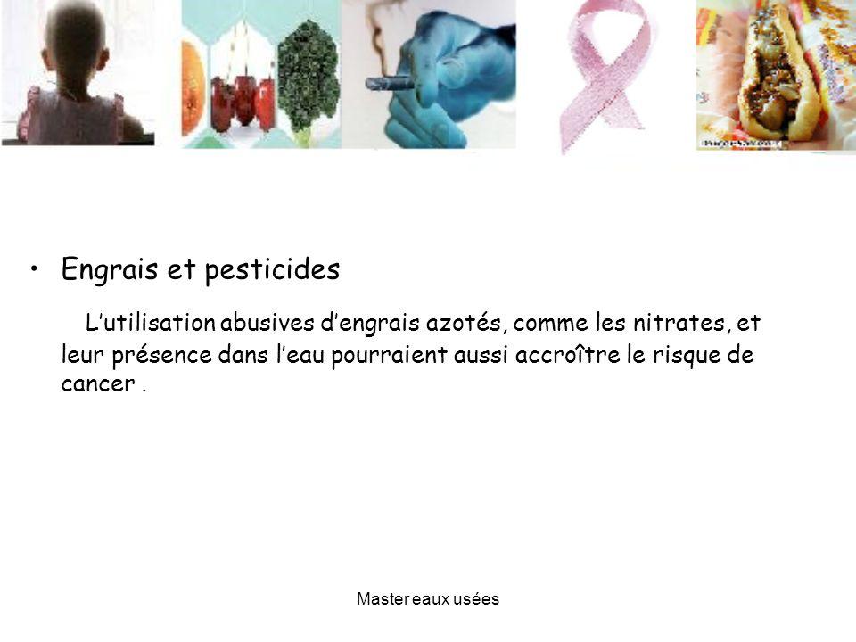 Engrais et pesticides Lutilisation abusives dengrais azotés, comme les nitrates, et leur présence dans leau pourraient aussi accroître le risque de ca