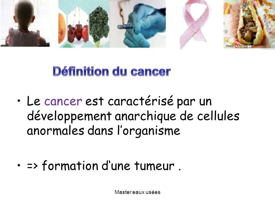 Le cancer est caractérisé par un développement anarchique de cellules anormales dans lorganisme => formation dune tumeur. Master eaux usées