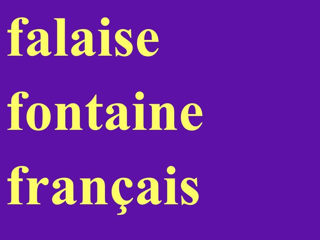 falaise fontaine français