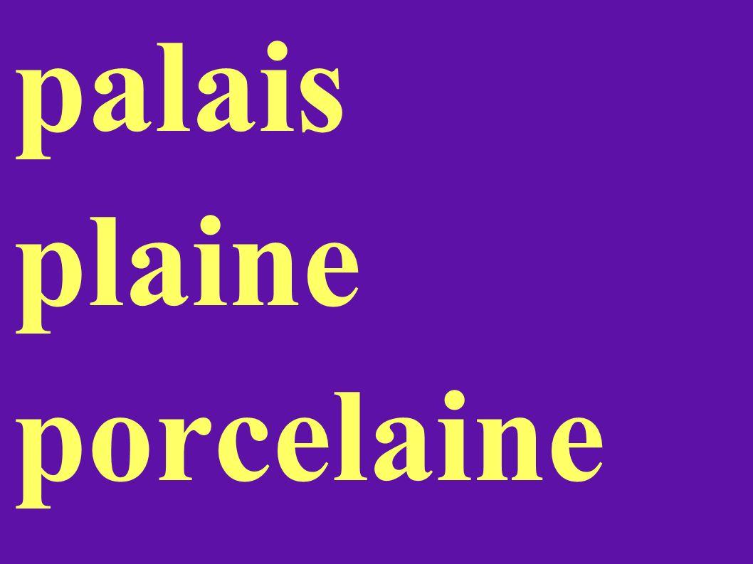 palais plaine porcelaine