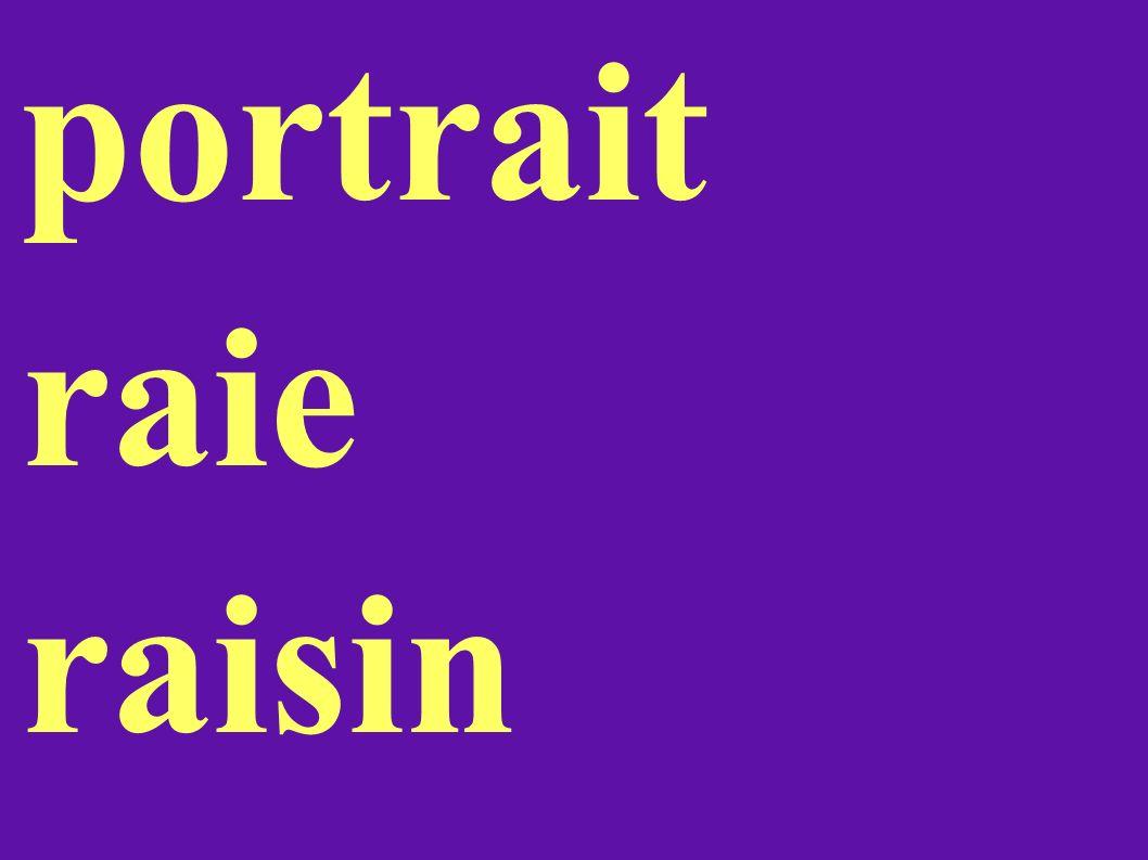 portrait raie raisin