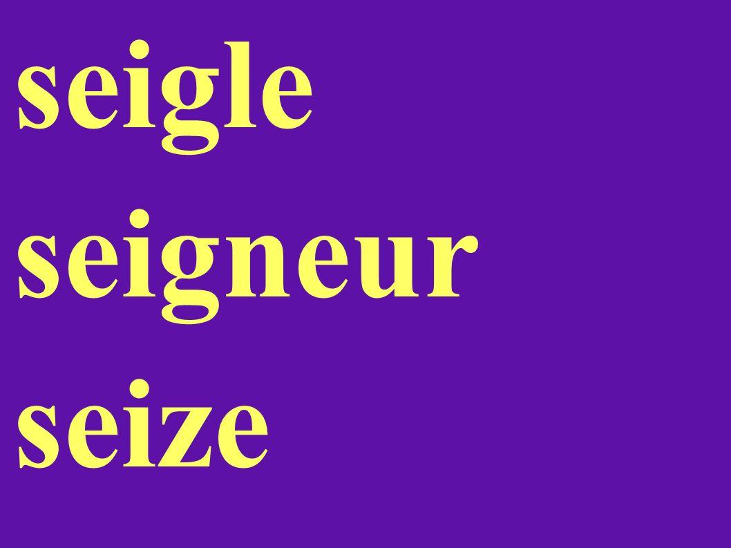 seigle seigneur seize