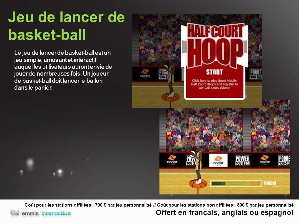 Jeu de lancer de basket-ball Le jeu de lancer de basket-ball est un jeu simple, amusant et interactif auquel les utilisateurs auront envie de jouer de nombreuses fois.