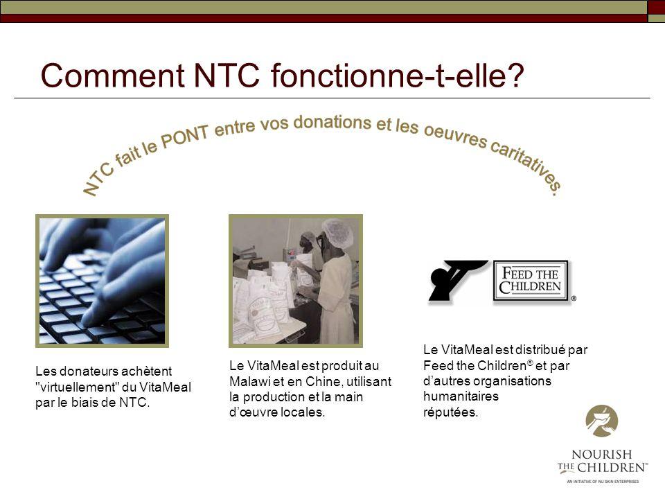 Comment NTC fonctionne-t-elle? Les donateurs achètent