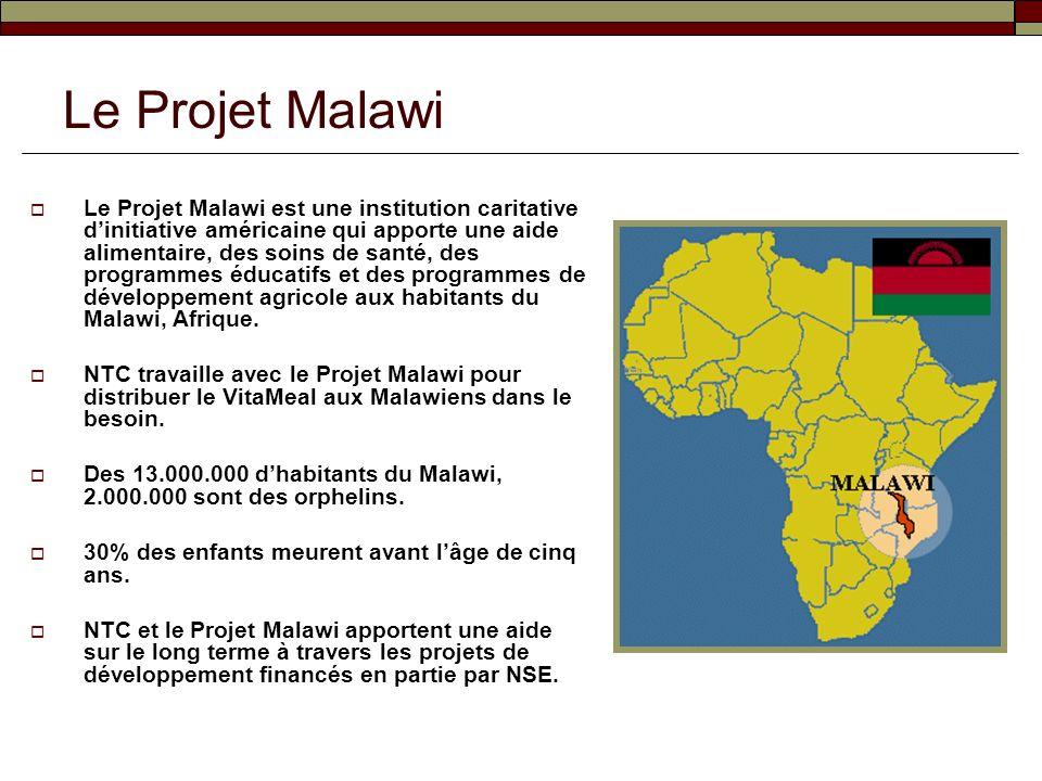 Le Projet Malawi est une institution caritative dinitiative américaine qui apporte une aide alimentaire, des soins de santé, des programmes éducatifs