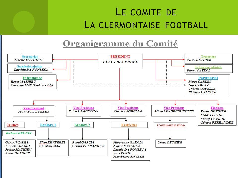 L E COMITE DE L A CLERMONTAISE FOOTBALL