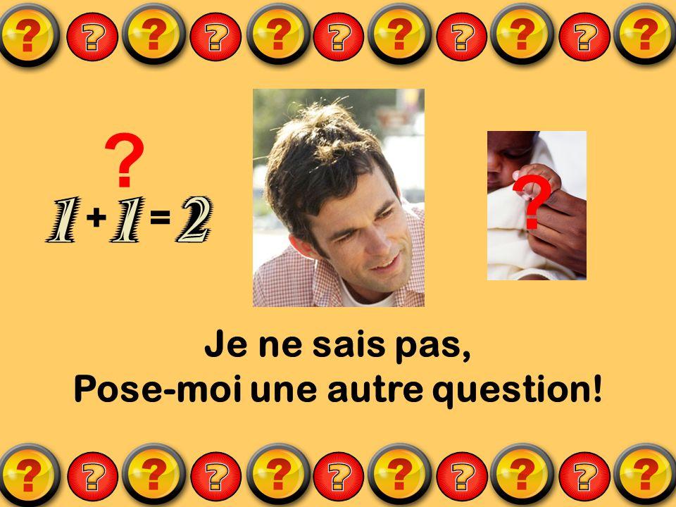 Je ne sais pas, Pose-moi une autre question! ? += ?