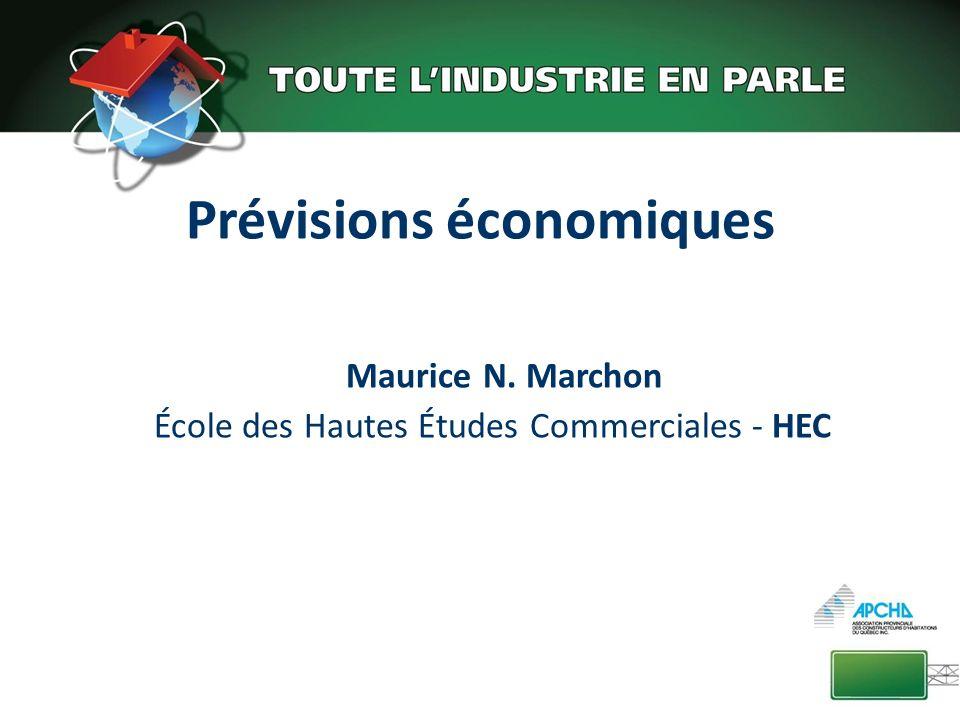 Prévisions économiques Maurice N. Marchon École des Hautes Études Commerciales - HEC