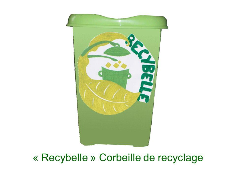 « Recybelle » Corbeille de recyclage