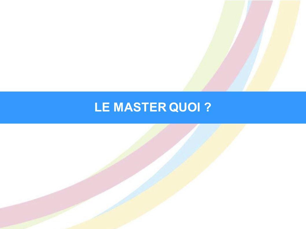 LA PROMOTION DU MASTER Le réseau Alumni Master D.I.E.