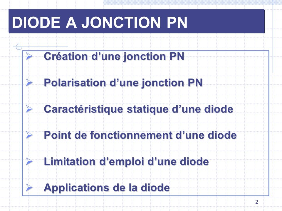 13 APPLICATIONS DE LA DIODE Fonctionnement en redresseur