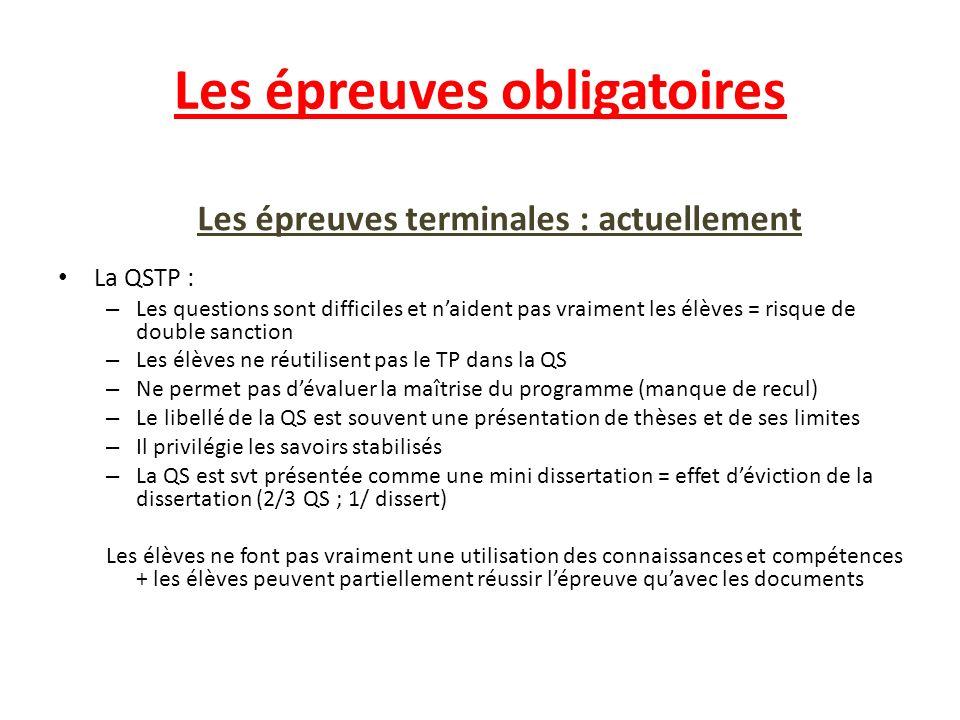 Les épreuves obligatoires Les épreuves terminales : la nouvelle La nouvelle dissertation: – Les documents sont exclusivement factuels : doc stat.