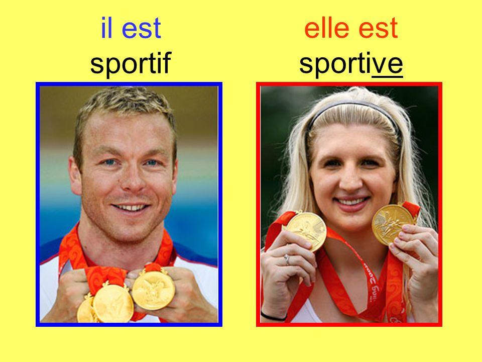 elle est sportive il est sportif