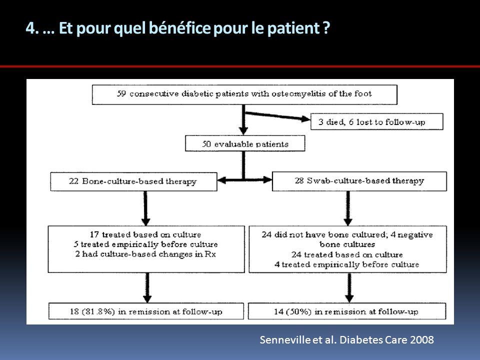 4. … Et pour quel bénéfice pour le patient ? Senneville et al. Diabetes Care 2008