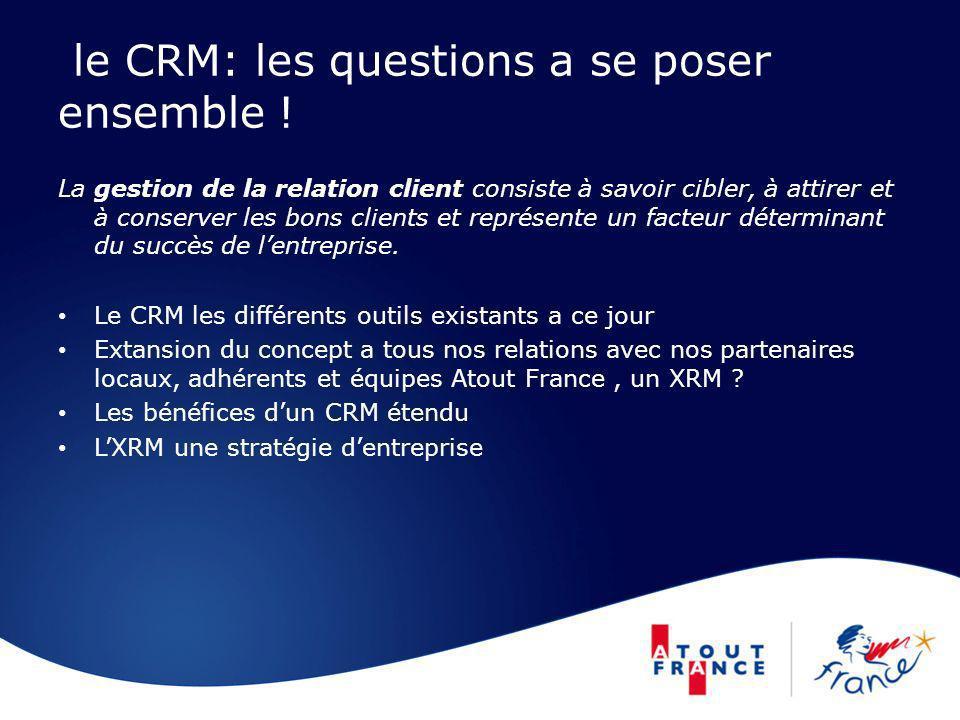 le CRM: les questions a se poser ensemble ! La gestion de la relation client consiste à savoir cibler, à attirer et à conserver les bons clients et re