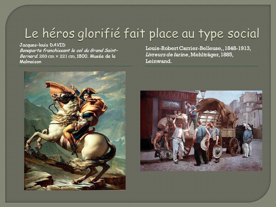 Jacques-louis DAVID Bonaparte franchissant le col du Grand Saint- Bernard. 260 cm × 221 cm, 1800. Musée de la Malmaison Louis-Robert Carrier-Belleuse,