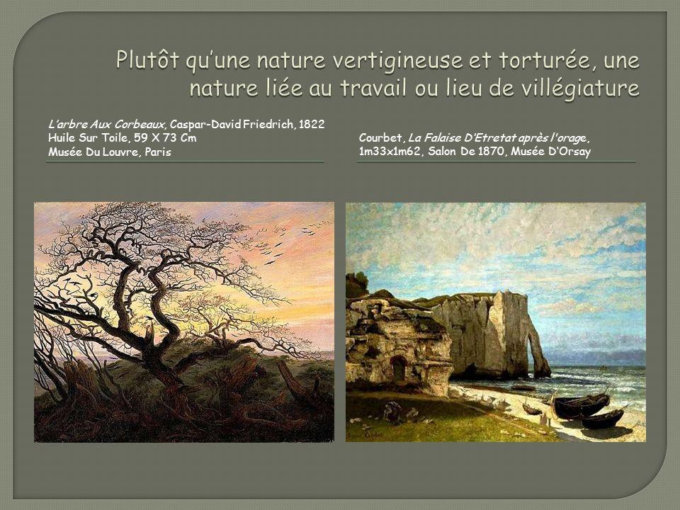 Larbre Aux Corbeaux, Caspar-David Friedrich, 1822 Huile Sur Toile, 59 X 73 Cm Musée Du Louvre, Paris Courbet, La Falaise DEtretat après l'orage, 1m33x