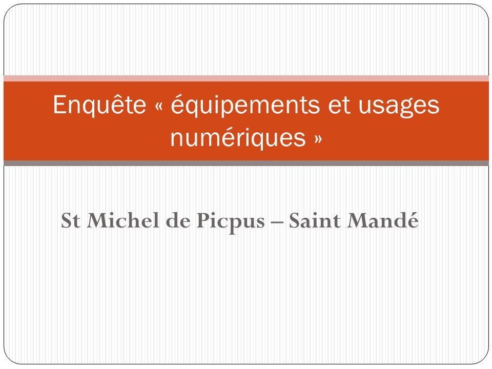 St Michel de Picpus – Saint Mandé Enquête « équipements et usages numériques »