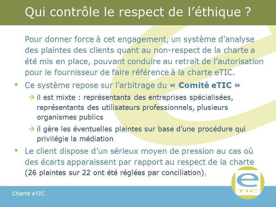 Charte eTIC Qui contrôle le respect de léthique .