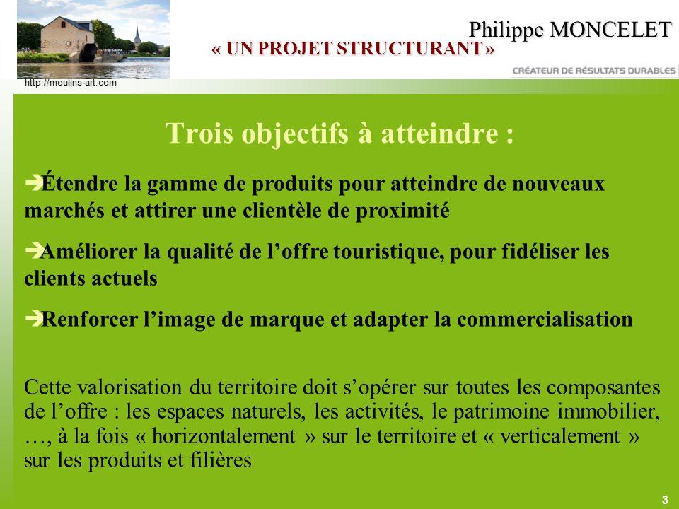 3 Philippe MONCELET Trois objectifs à atteindre : Étendre la gamme de produits pour atteindre de nouveaux marchés et attirer une clientèle de proximit