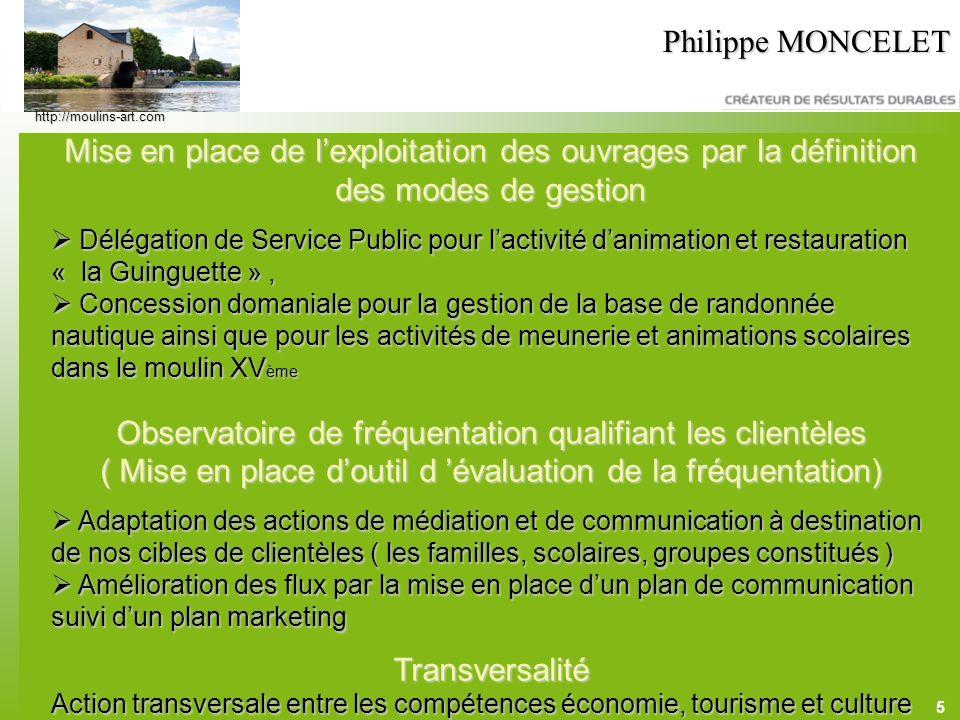 5 Philippe MONCELET Mise en place de lexploitation des ouvrages par la définition des modes de gestion Délégation de Service Public pour lactivité dan