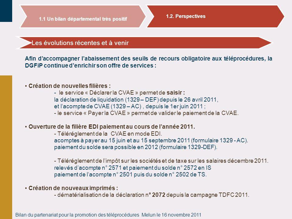Bilan du partenariat pour la promotion des téléprocédures Melun le 16 novembre 2011 Bilan des adhésions aux téléprocédures en Seine et Marne Les évolu