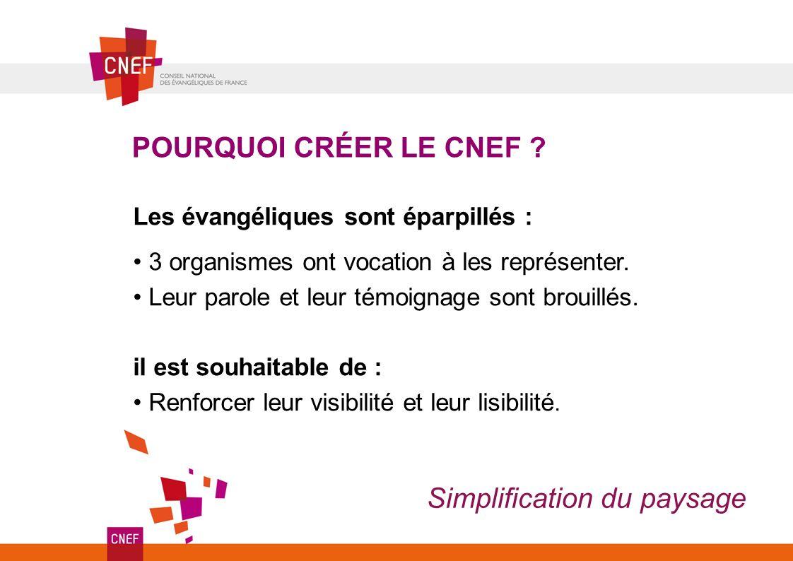 POURQUOI CRÉER LE CNEF .