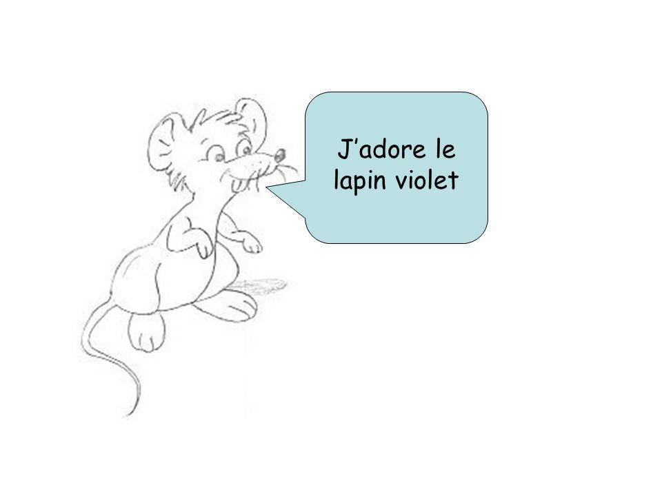 Jadore le lapin violet