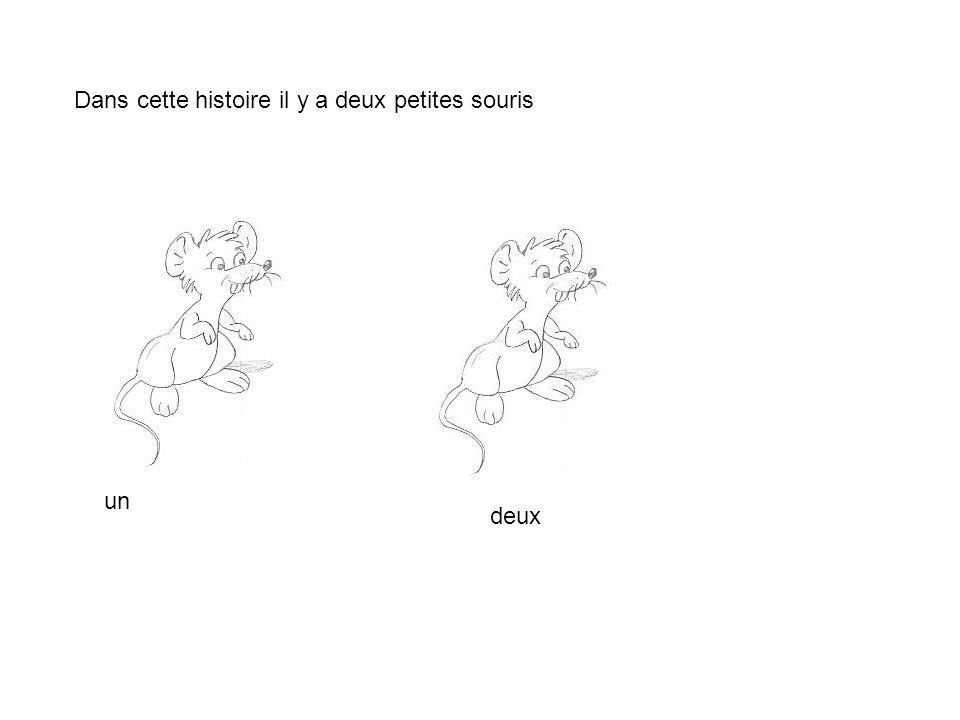 Dans cette histoire il y a deux petites souris un deux
