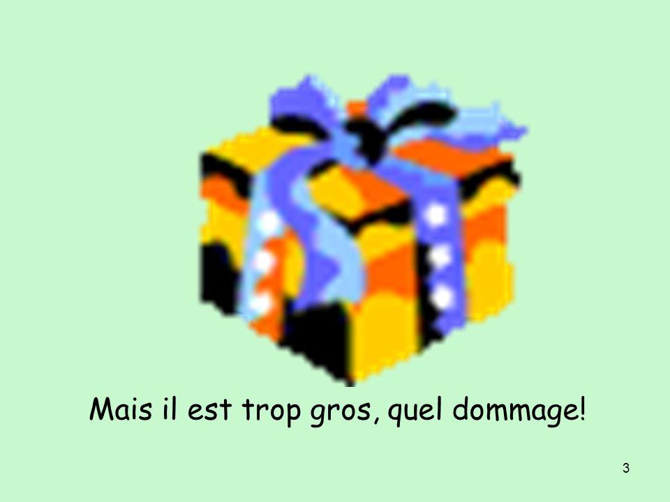 2 Lundi, je reçois un cadeau. Quelle surprise !