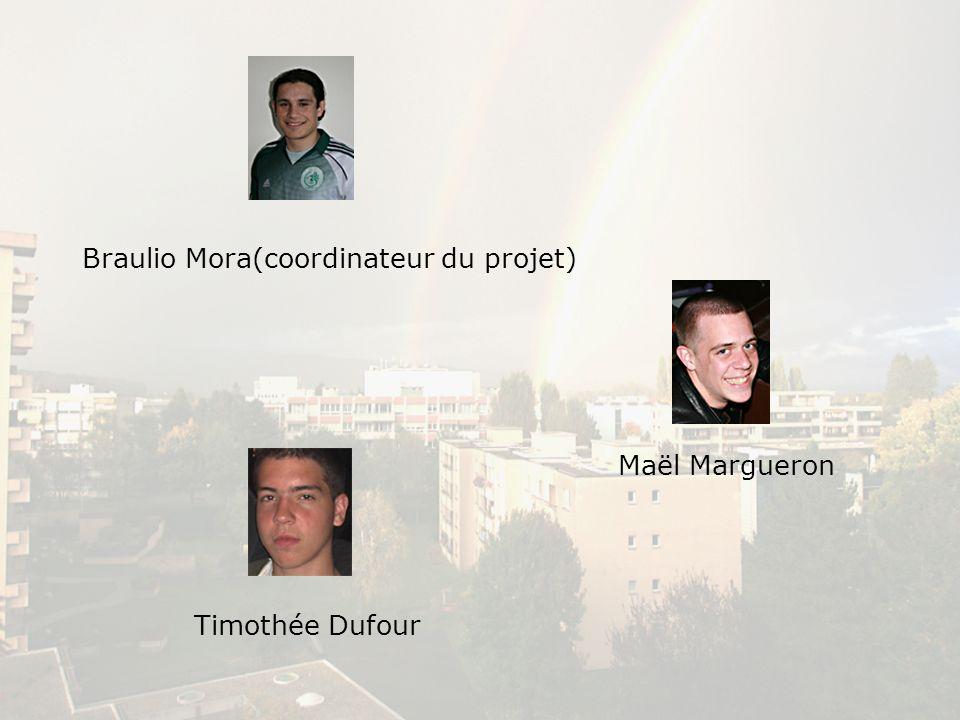 Braulio Mora(coordinateur du projet) Maël Margueron Timothée Dufour