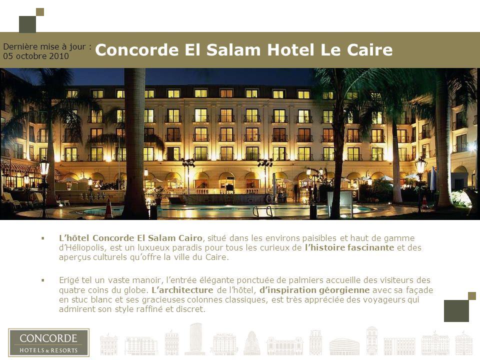 Lhôtel Concorde El Salam Cairo, situé dans les environs paisibles et haut de gamme dHéliopolis, est un luxueux paradis pour tous les curieux de lhistoire fascinante et des aperçus culturels quoffre la ville du Caire.
