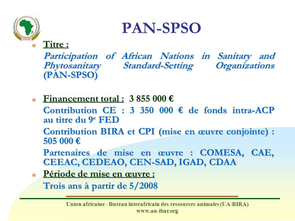 Union africaine - Bureau interafricain des ressources animales (UA/BIRA) www.au-ibar.org Raison d être n Les pays exportateurs doivent prouver que les normes qu ils appliquent sont scientifiques, équivalentes et n entravent pas le commerce.