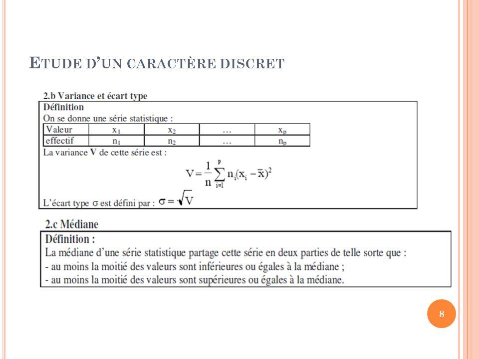 La série de notes des stagiaires TRI admet deux modes : 3 et 6. 9