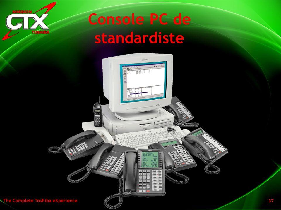 The Complete Toshiba eXperience 37 Console PC de standardiste