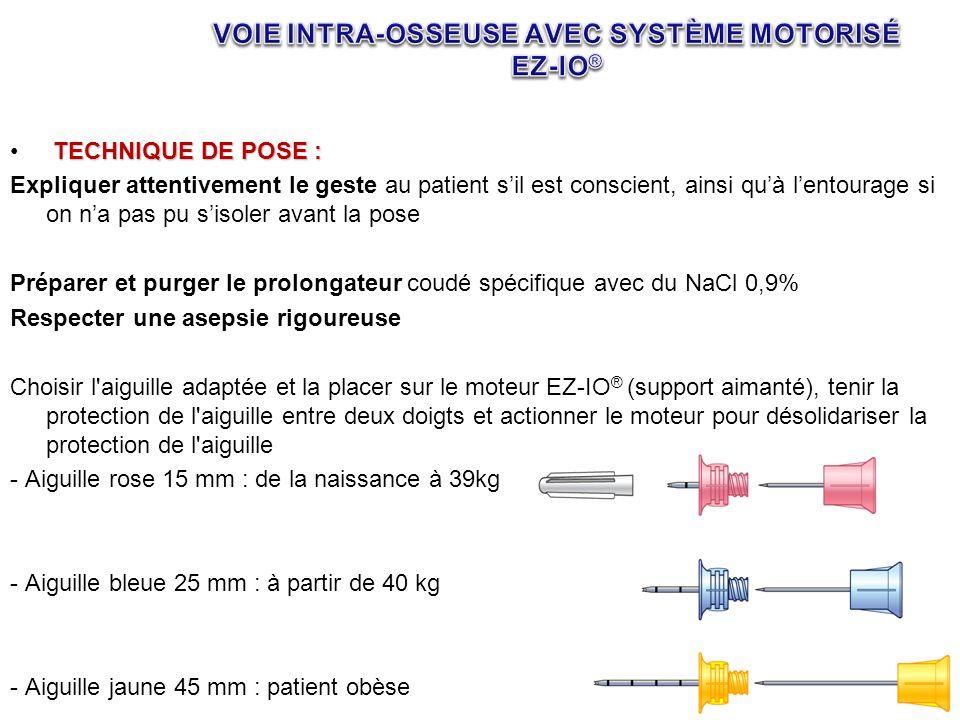 TECHNIQUE DE POSE : Expliquer attentivement le geste au patient sil est conscient, ainsi quà lentourage si on na pas pu sisoler avant la pose Préparer