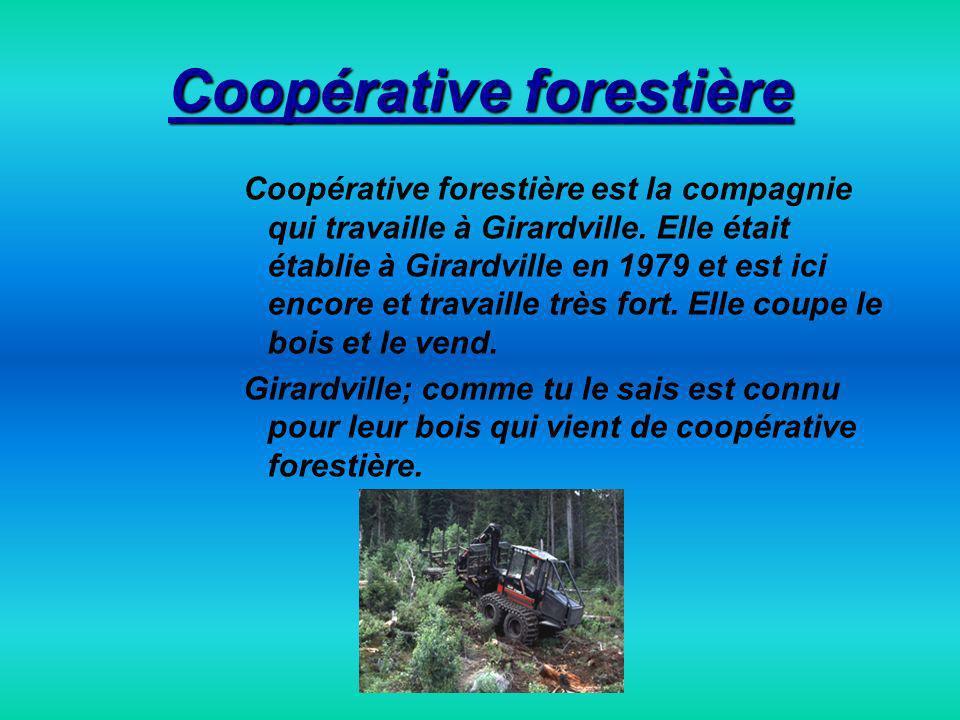 Coopérative forestière Coopérative forestière est la compagnie qui travaille à Girardville.