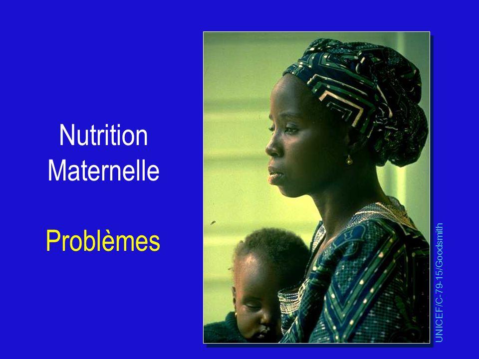 Nutrition Maternelle Problèmes et Interventions