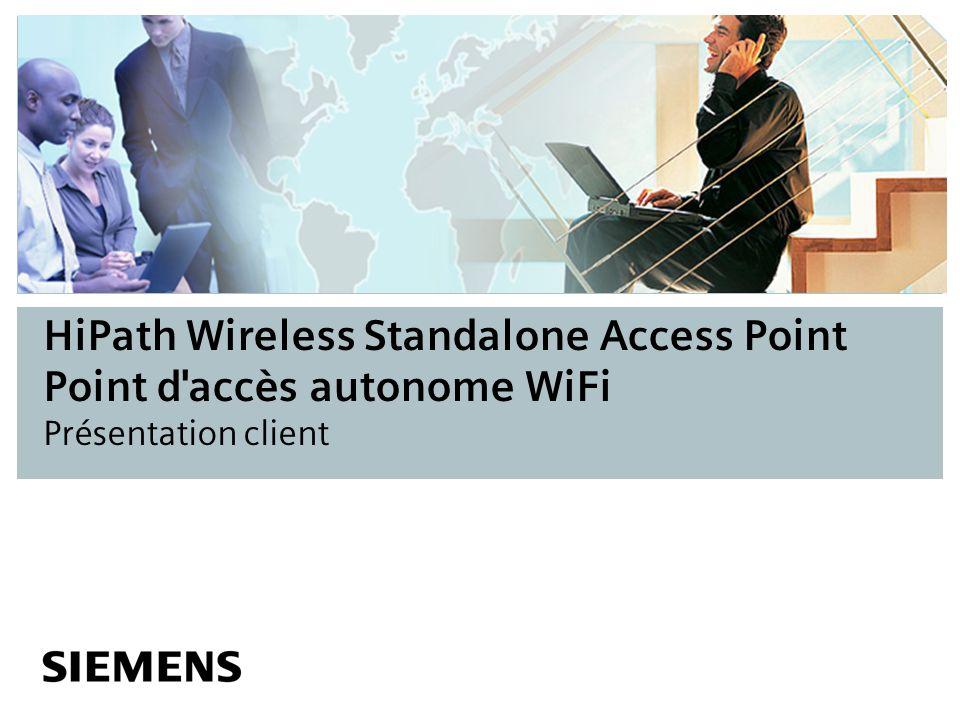 HiPath Wireless Standalone Access Point Point d'accès autonome WiFi Présentation client