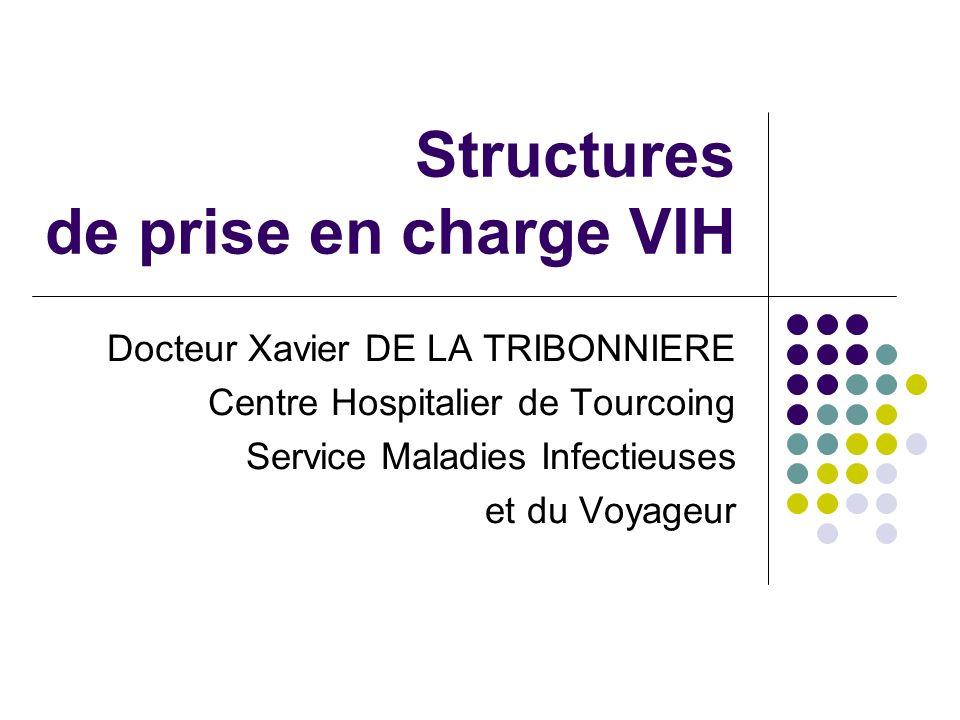 Structures de prise en charge VIH Docteur Xavier DE LA TRIBONNIERE Centre Hospitalier de Tourcoing Service Maladies Infectieuses et du Voyageur