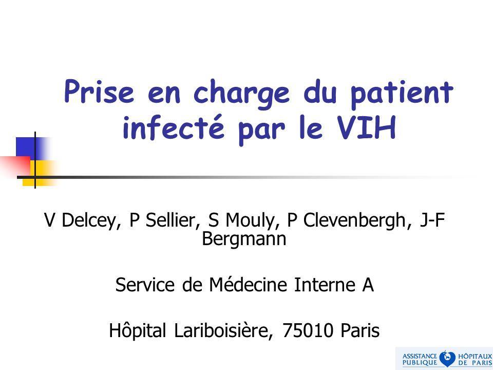 V Delcey, P Sellier, S Mouly, P Clevenbergh, J-F Bergmann Service de Médecine Interne A Hôpital Lariboisière, 75010 Paris Prise en charge du patient i