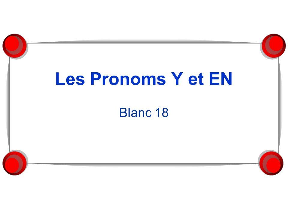 Les Pronoms Y et EN Blanc 18