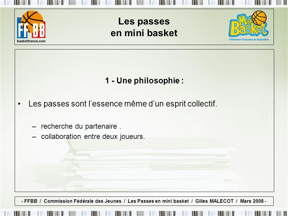 1 - Une philosophie : Les passes sont lessence même dun esprit collectif.