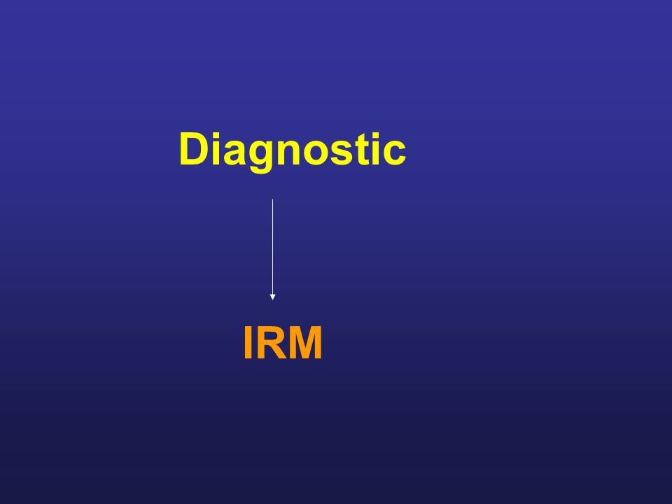 Diagnostic IRM