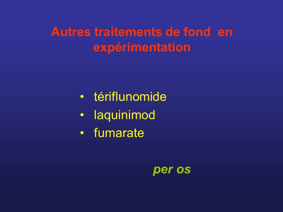 Autres traitements de fond en expérimentation tériflunomide laquinimod fumarate per os