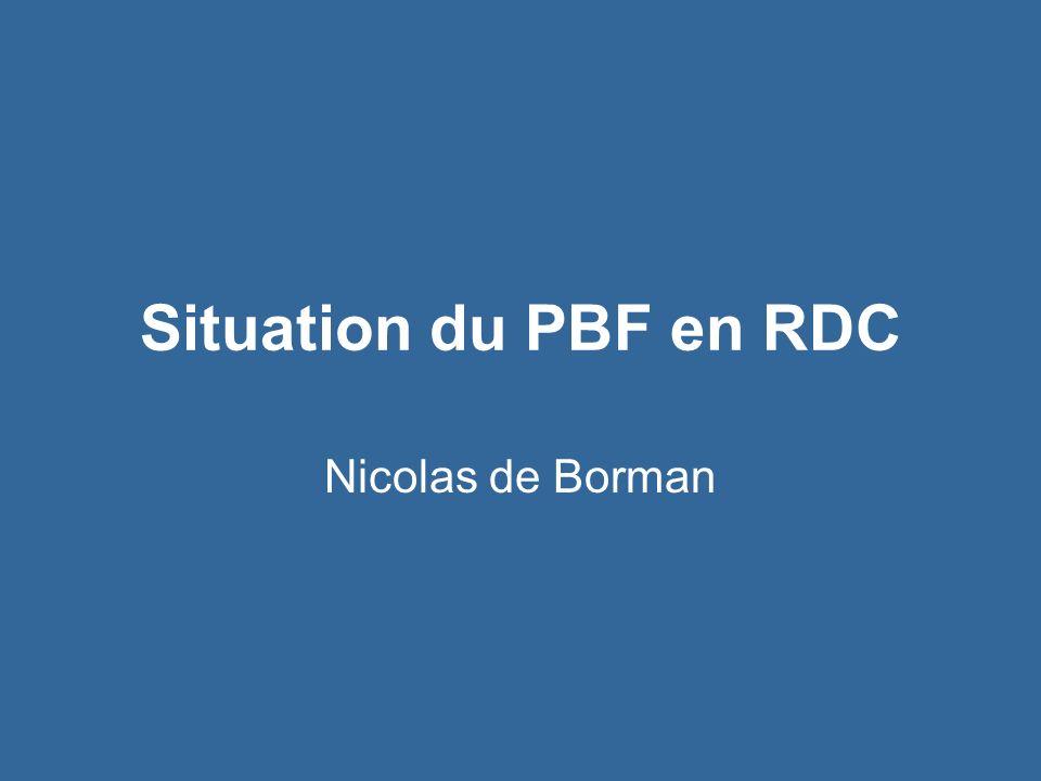 Plan de Présentation Le FBP en RDC : Etat des lieux Lachat des services de santé dans le Kasaï Occidental –Présentation de lachat de service –Vers une mise à léchelle –Les résultats