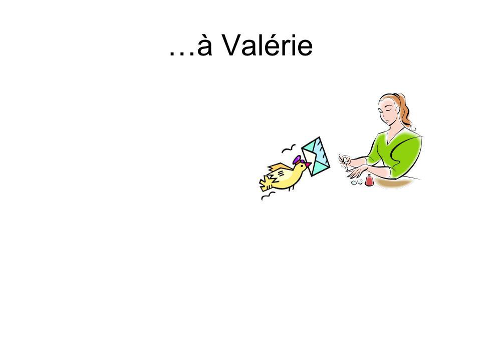 LObjet Indirect J envoiecette lettre à Valérie. Quel est lobjet indirect à Valérie