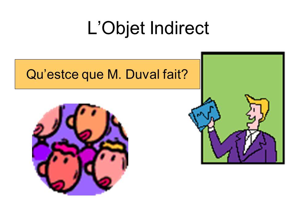 LObjet indirect Quest-ce que Nicolas fait
