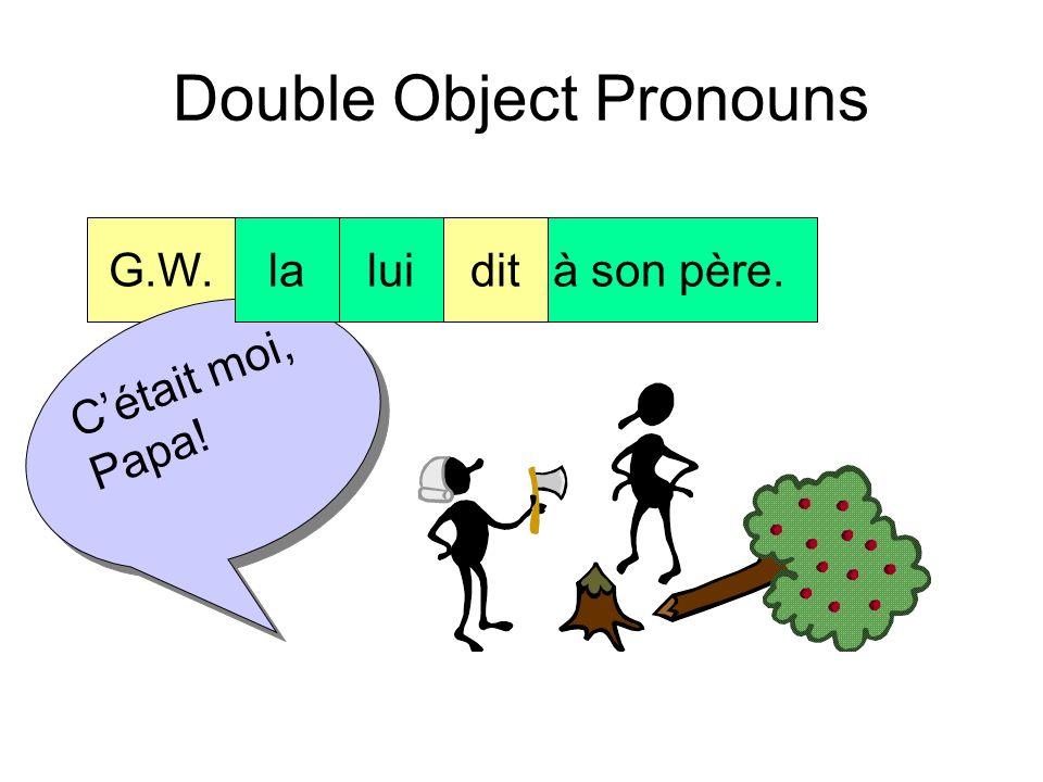 Double Object Pronouns G.W.ditla véritéà son père. Cétait moi, Papa!
