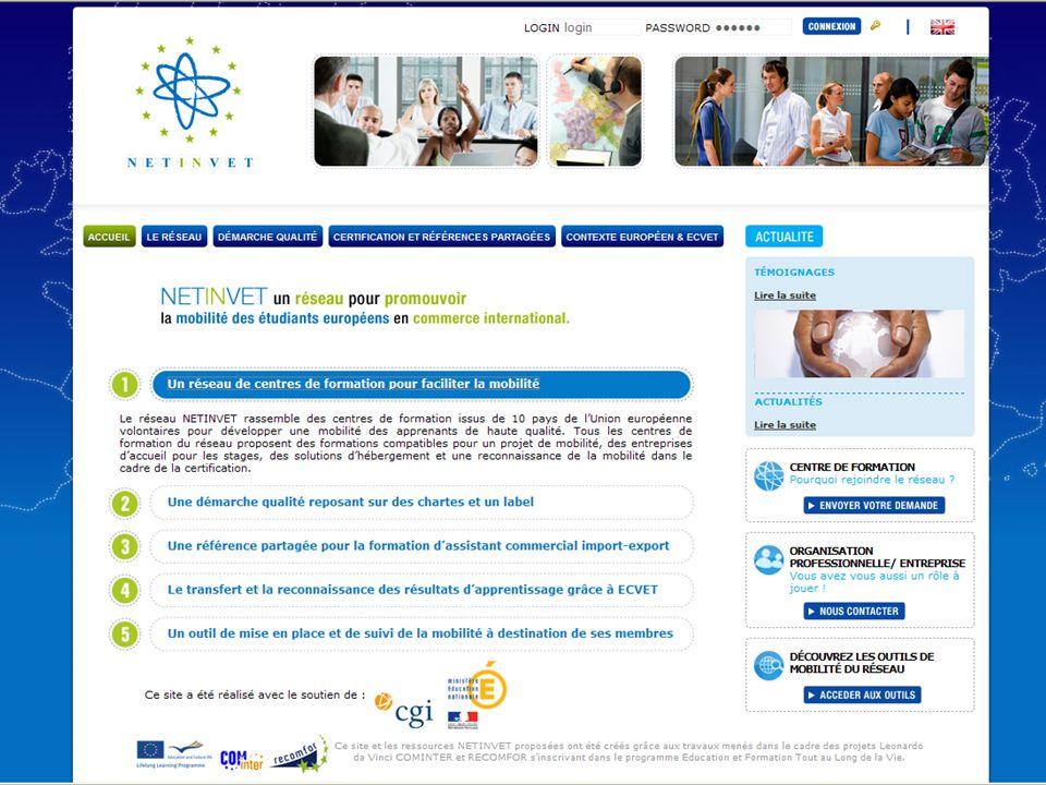 NETINVET : Etudiants en commerce international http://www.netinvet.eu/?lg=fr EU-Move : Secteur de lhôtellerie-restauration, commerce et santé http://www.evta.net/eumoveportal/index.html EUROAPPRENTICESHIP : Mobilité de lapprentissage http://www.euroapprenticeship.eu